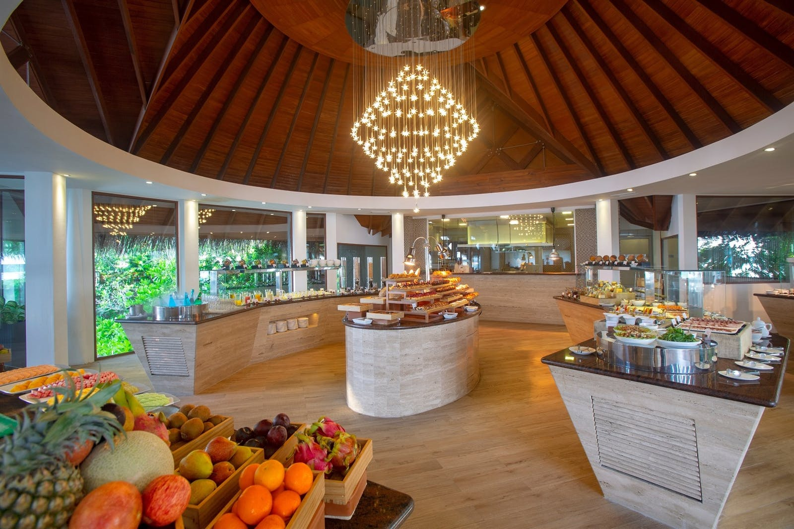 Breakfast at Lime Restaurant, Baros, Maldives
