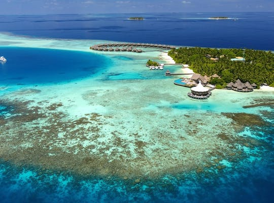 Aerial View of Baros, Maldives
