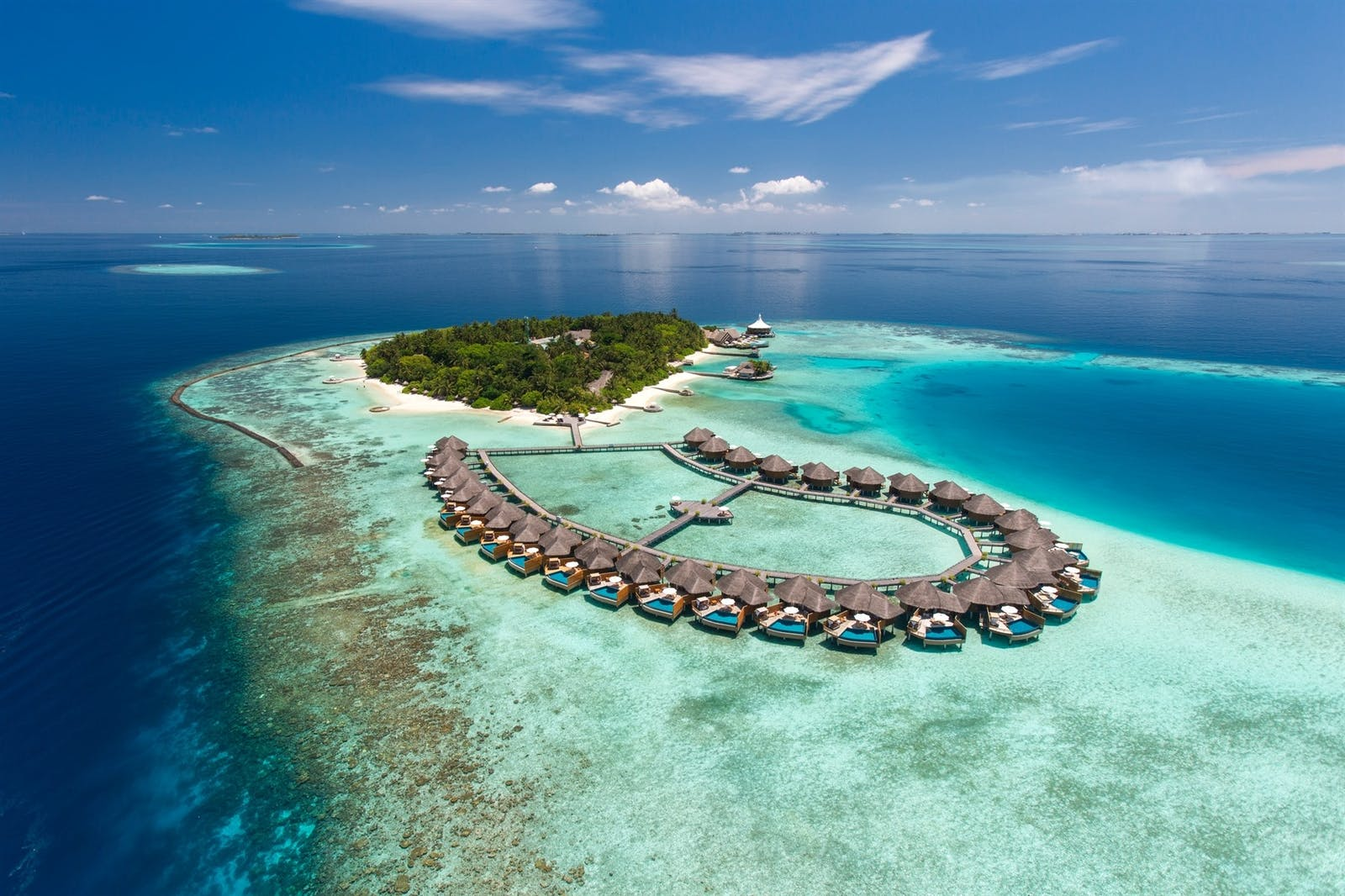 Aeriel view of Baros, Maldives