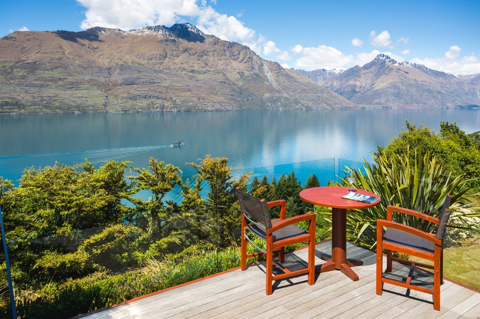 views at azur lodge, Queenstown, South Island, New Zealand