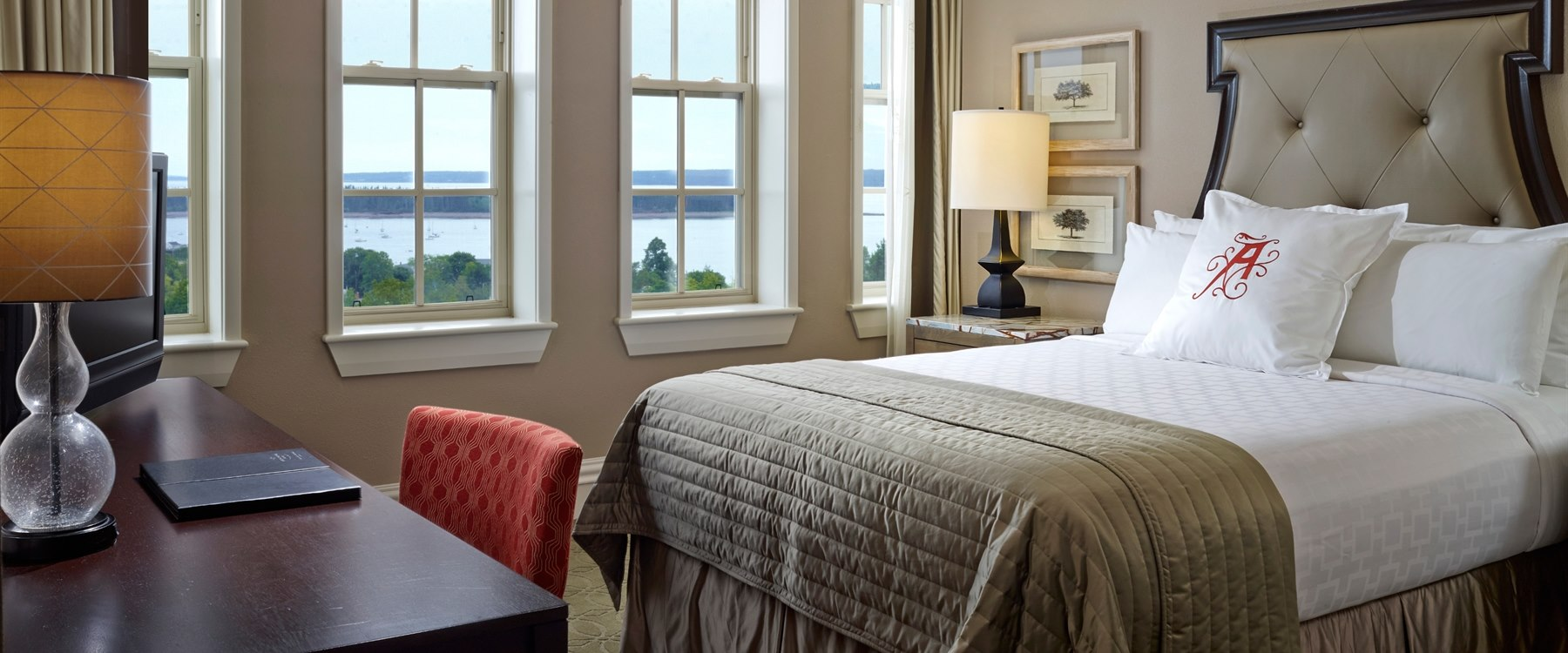 Bayview Queen bedroom at The Algonquin Resort, St. Andrews