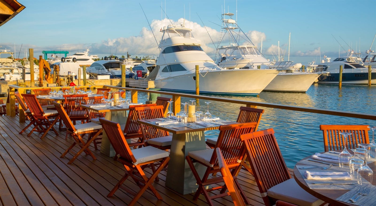 Dining by the Marina at Casa De Campo Resort & Villas, Dominican Republic, Caribbean