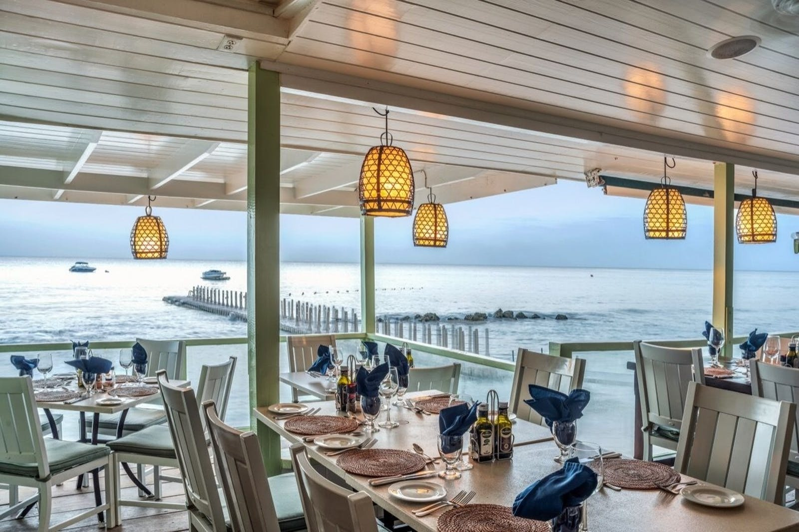 Restaurant Offering Unbelievable Views of the Caribbean Sea at Little Good Harbour, Barbados