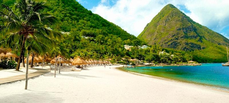 Beautiful shoreline at The Villas at Sugar Beach, A Viceroy Resort