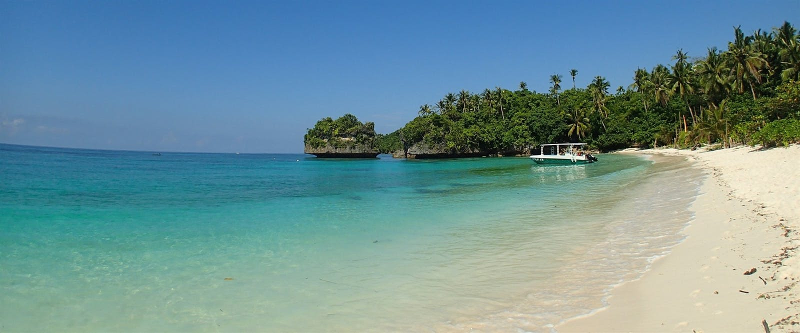 300 Metre Private White Sand Beach at Amun Ini Beach Resort & Spa, Philippines
