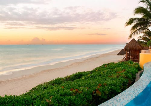 The beach at Fairmont Mayakoba, Riviera Maya