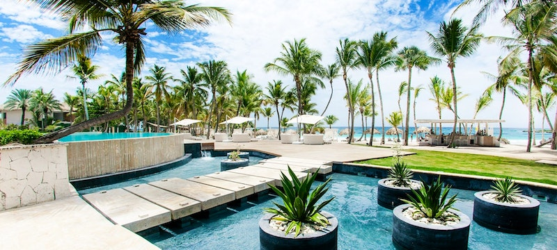 Path to the beautiful beach at Eden Roc at Cap Cana Boutique Suites & Beach Club, Dominican Republic
