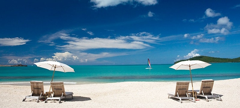 Picturesque beach front views at Hermitage Bay, Antigua