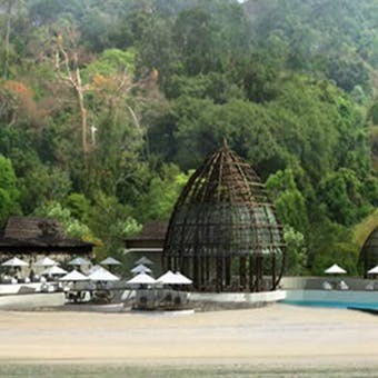 Beach grill at The Ritz-Carlton, Langkawi