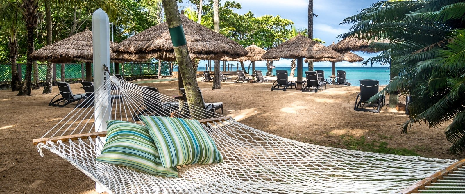 Beach hammock at East Winds, St Lucia