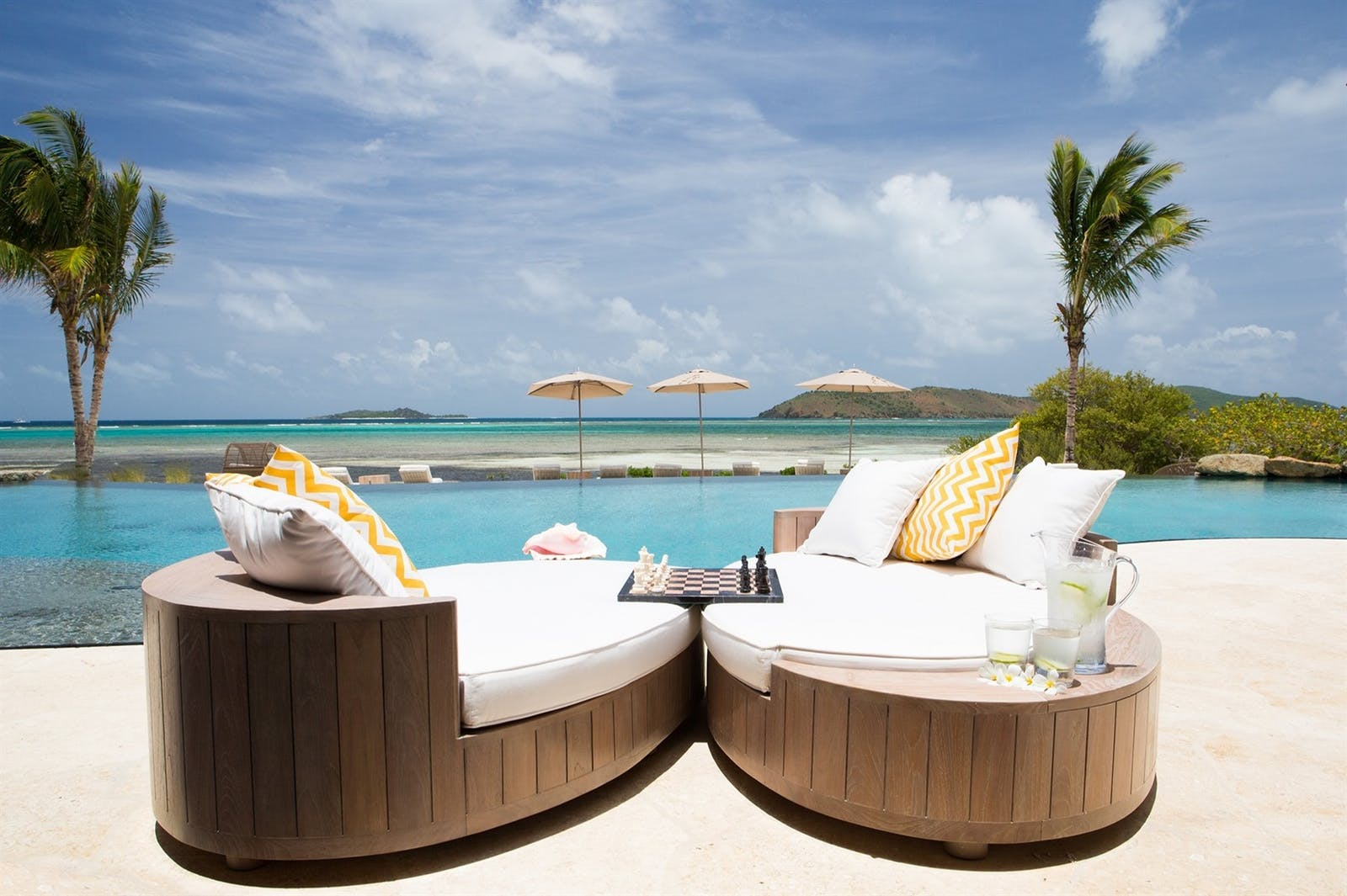 The Beach House terrace, Moskito Island, Virgin Limited Edition, British Virgin Islands