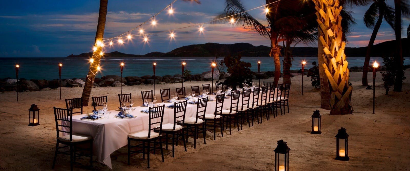 Outdoor dining at Necker Island, British Virgin Islands