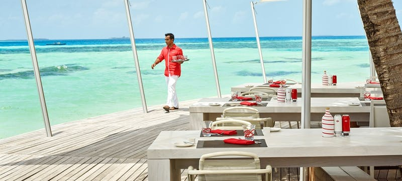 Beach rouge at LUX* South Ari Atoll, Maldives