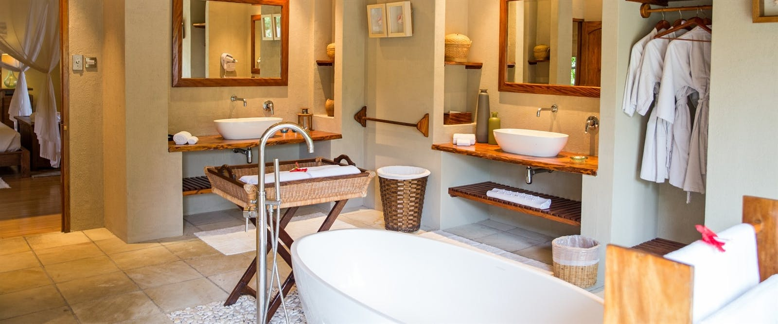 Beach Villa Bathroom at Denis Private Island, Seychelles