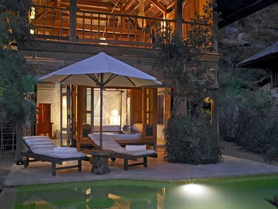 two bedroom beachfront pool villa