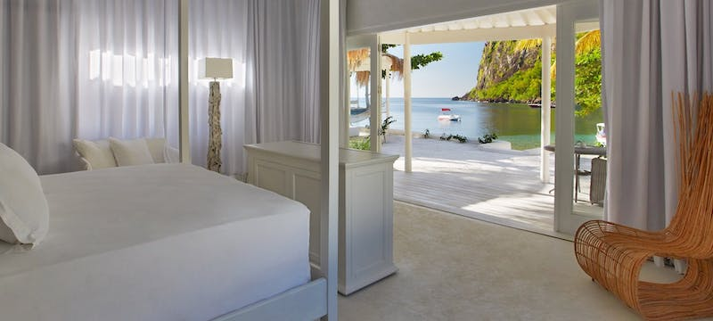 Beachfront bungalow at Sugar Beach, a Viceroy Resort