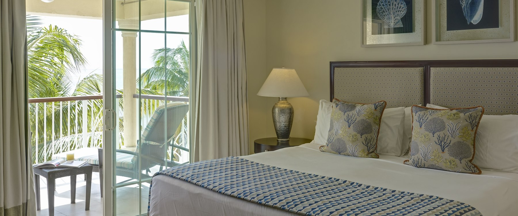 Master bedroom in Beachfront Villa at The Landings Resort and Spa by Elegant Hotels