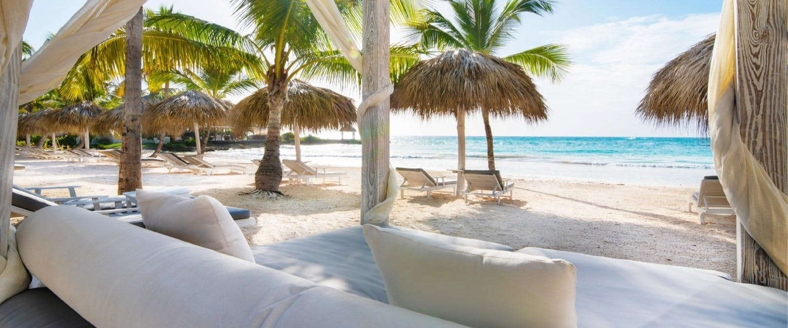 Beach Club Bed at Eden Roc at Cap Cana Boutique Suites & Beach Club, Dominican Republic