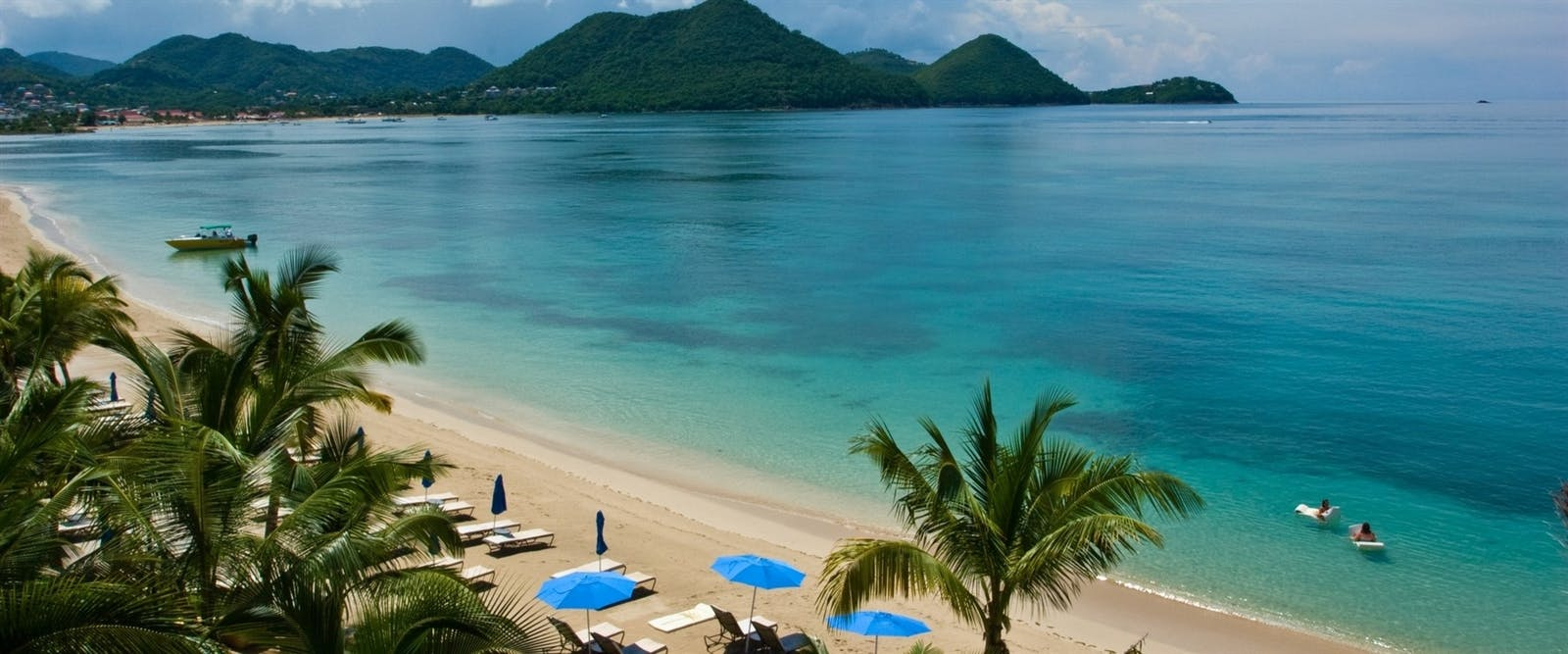 Beach Area at The Landings Resort and Spa by Elegant Hotels, St Lucia