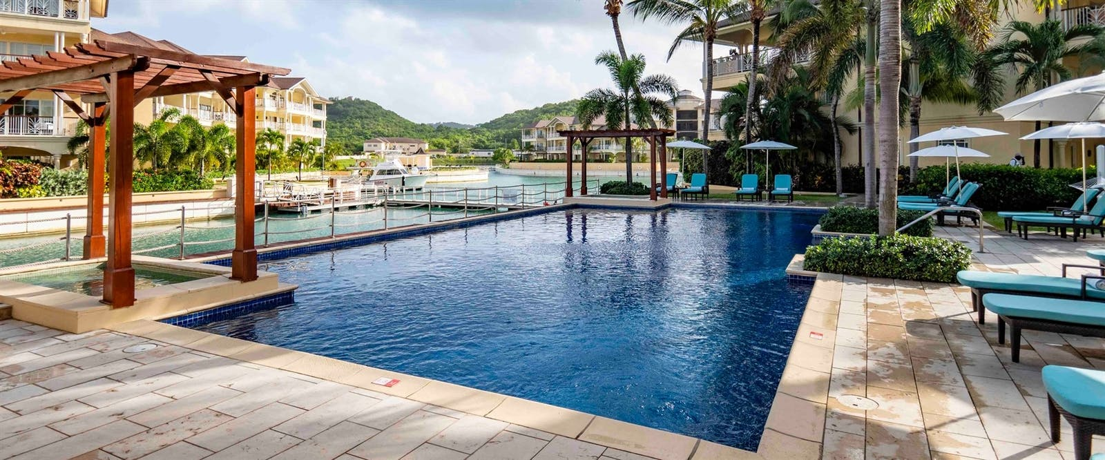 Beach Club Pool at The Landings Resort and Spa by Elegant Hotels, St Lucia