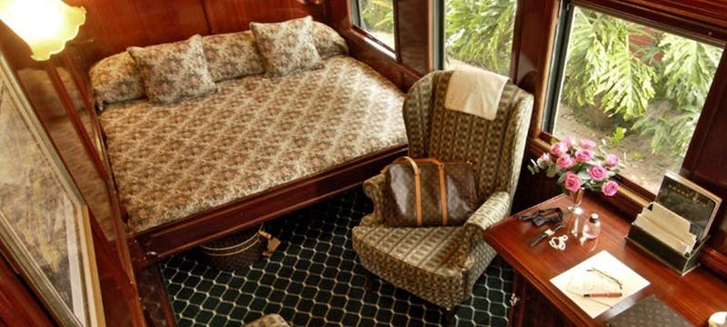 Double bedroom car on Rovos Rail, South Africa