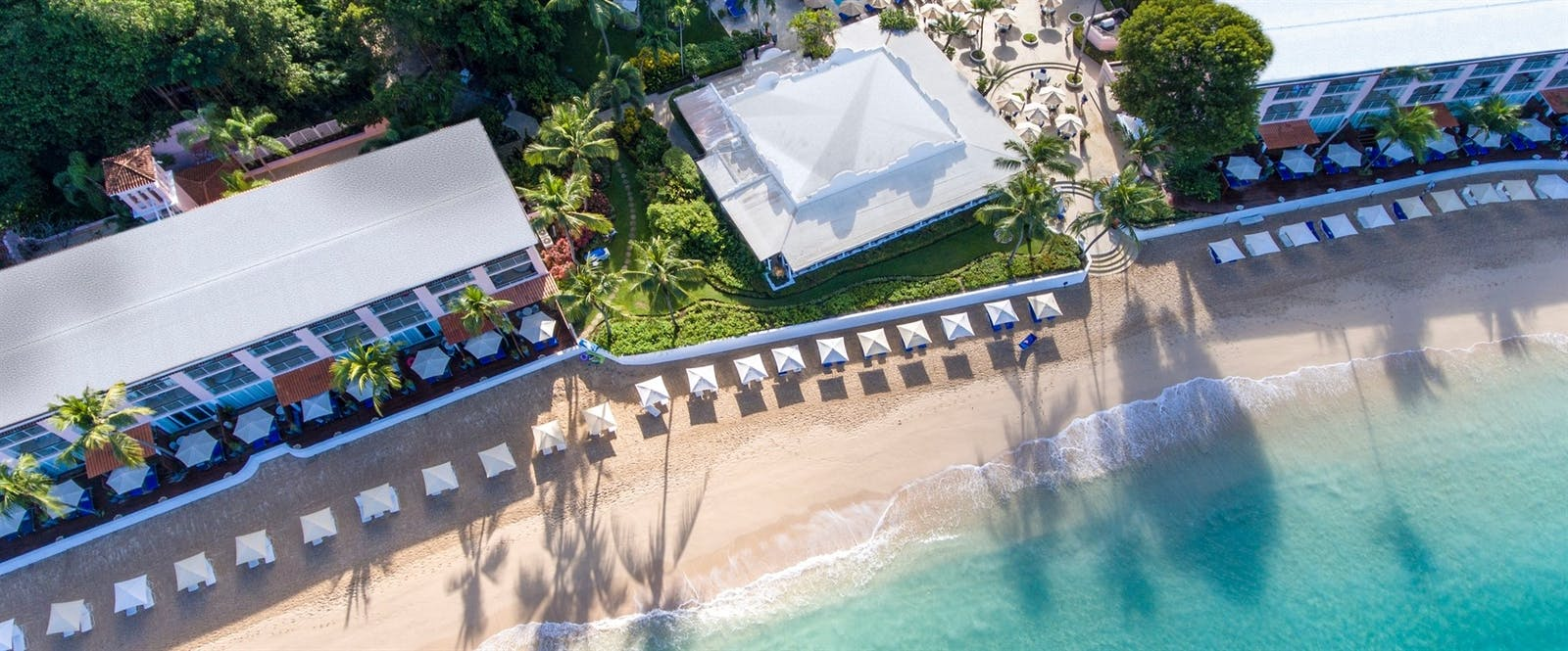 Aerial View of Beach at Fairmont Royal Pavilion, Barbados