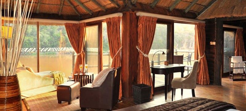 Chalet bedroom at Serena Mivumo River Lodge