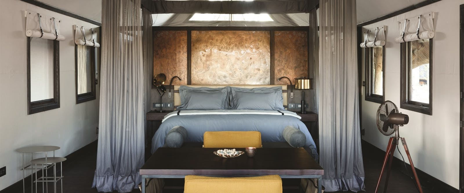Bedroom Interior at Eagle Island Lodge, A Belmond Safari, Botswana