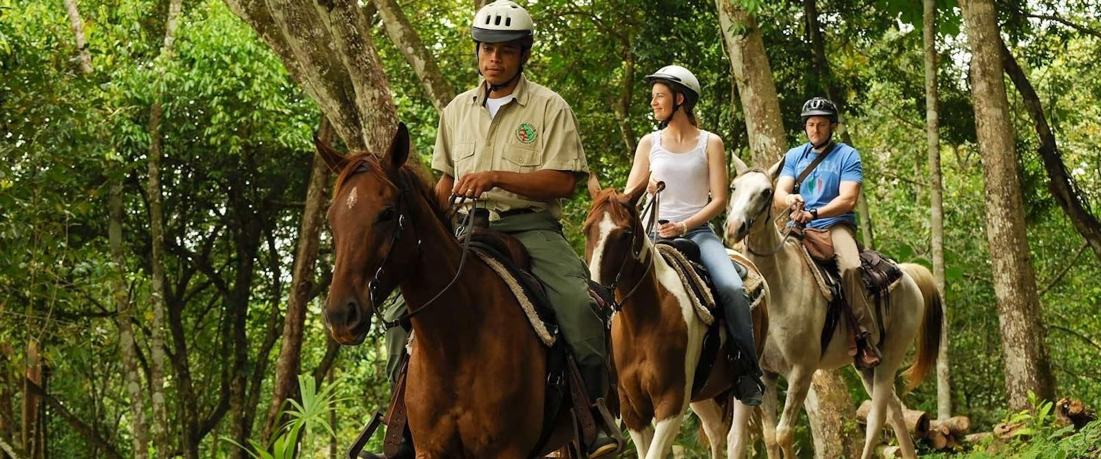 horseback riding tour, Chaa Creek, Belize