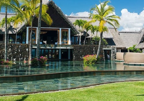 outside pool at constance belle mare plage mauritius