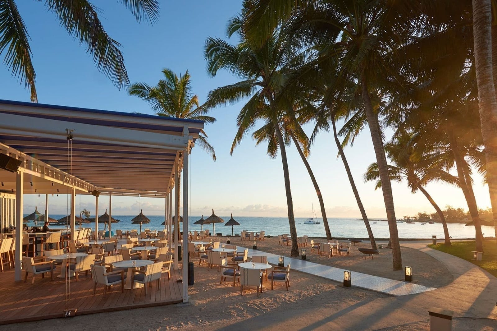 The Blu Bar at Constance Belle Mare Plage, Mauritius