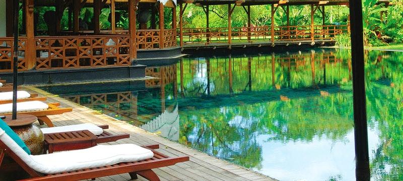 Swimming pool at Belmond Governor's Residence, Burma, Asia