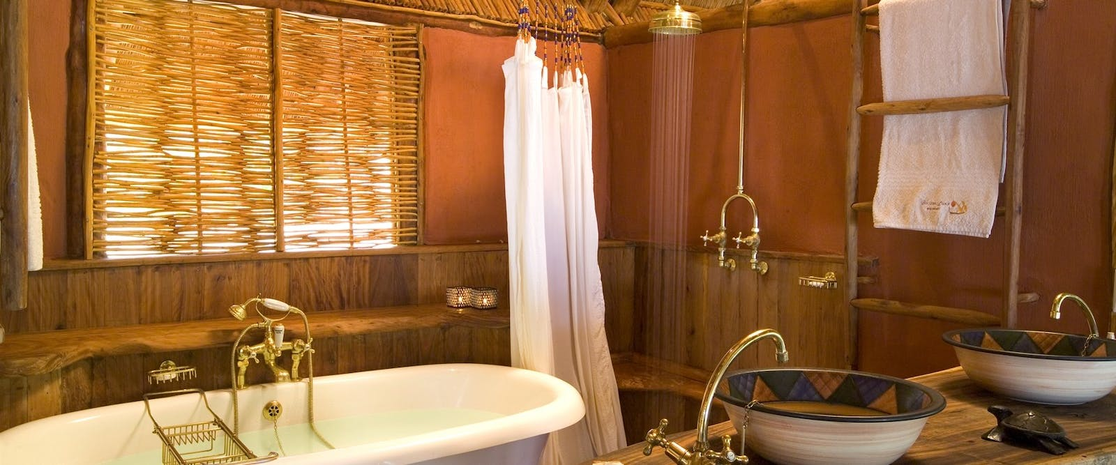 Bathroom interior at &Beyond Benguerra Island Lodge