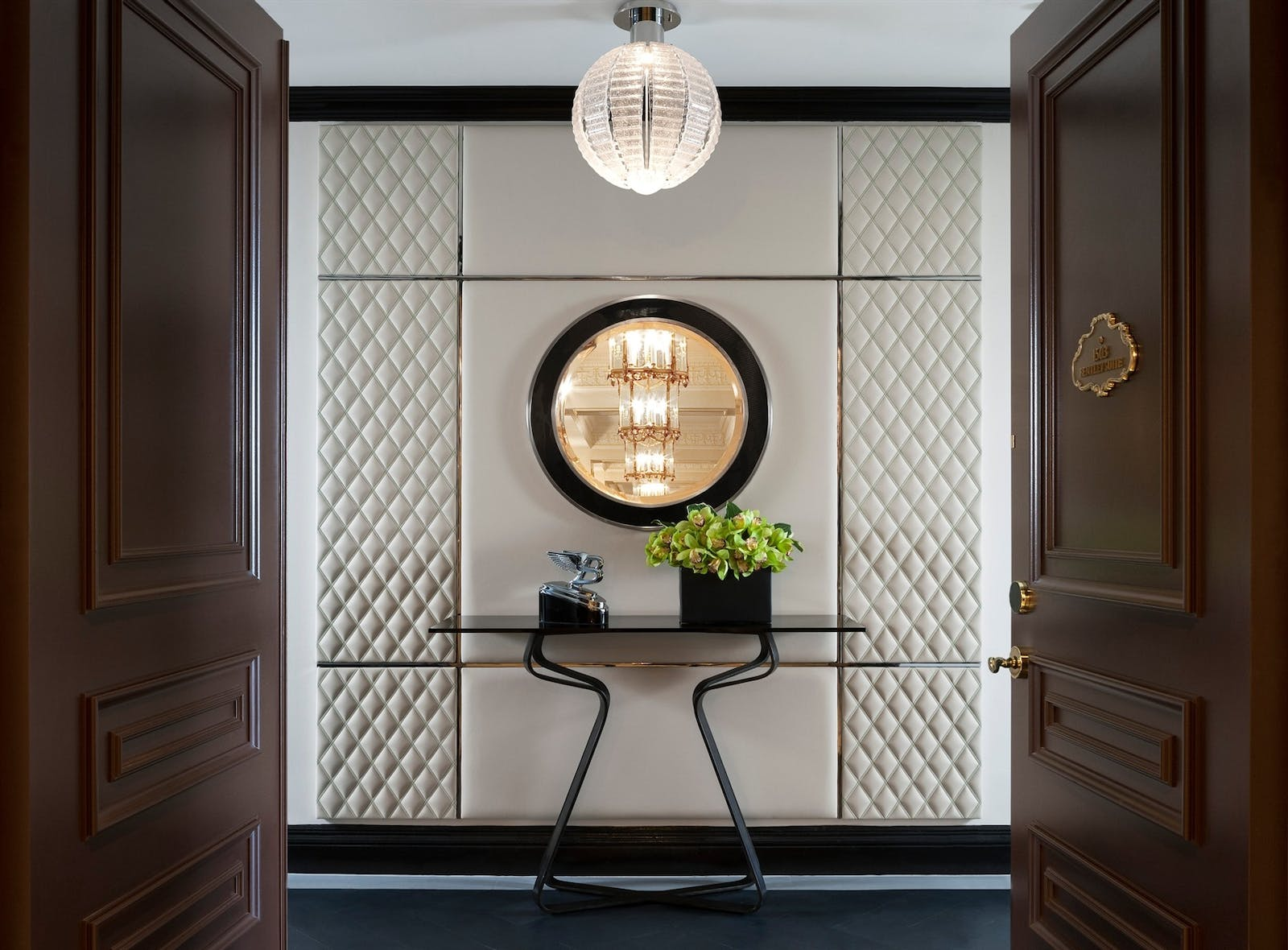 bentley suite entrance at the st regis new york