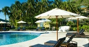 The relaxing pool area at Bequia Beach Hotel