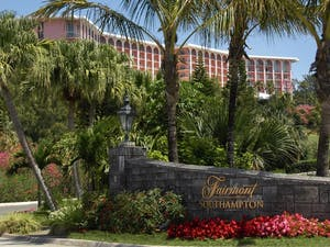 Entrance to Fairmont Southampton, Bermuda