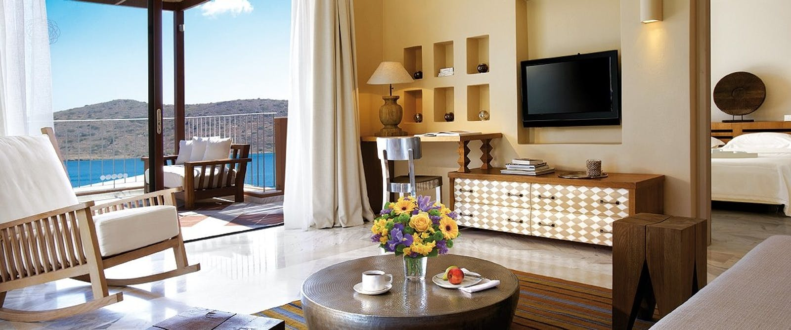 Bedroom Interior at Domes of Elounda, Autograph Collection, Crete, Greece