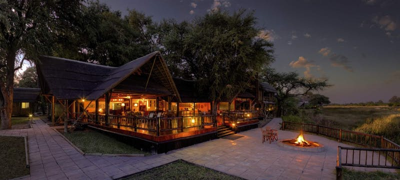 Exterior of at Belmond Khwai River Lodge