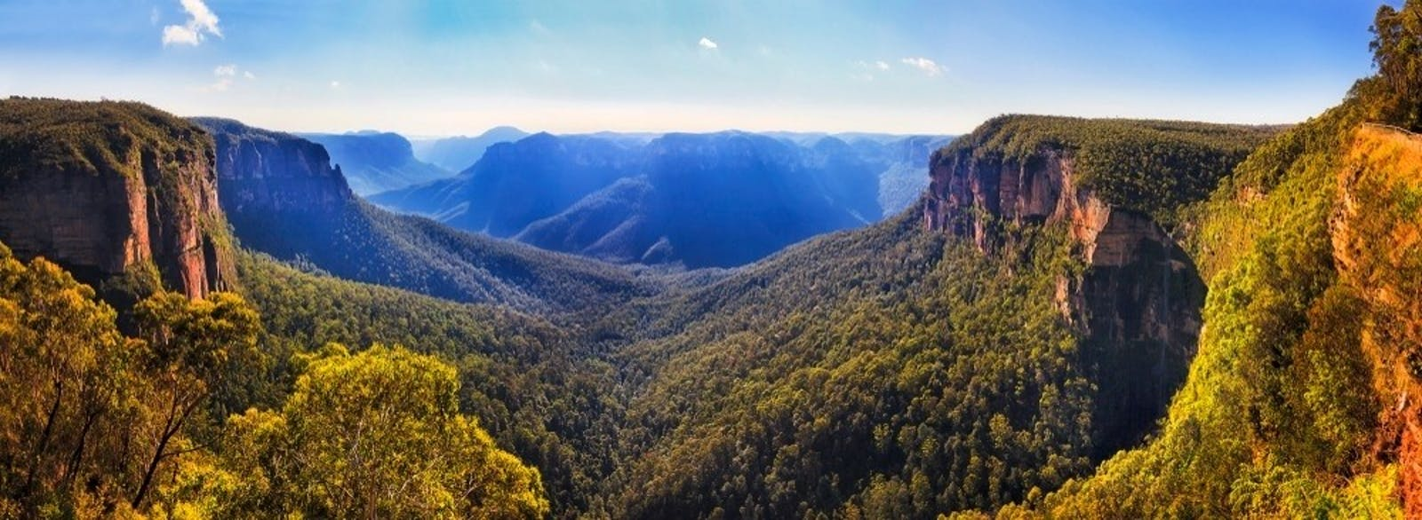 blue mountains optional tour bridal vale waterfall from govett leap lookout