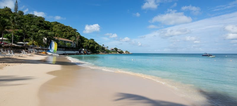 The beach at Blue Waters, Antigua