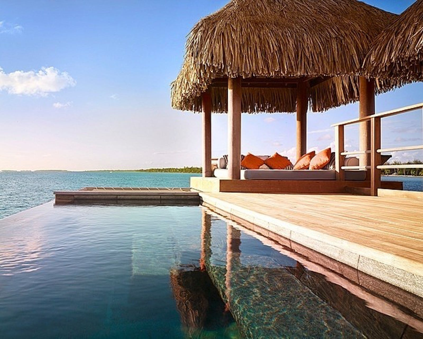 One of the plunge pools at Four Seasons Bora Bora Resort, French Polynesia