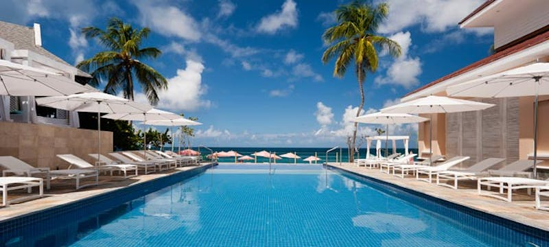 Pool area at BodyHoliday, St Lucia