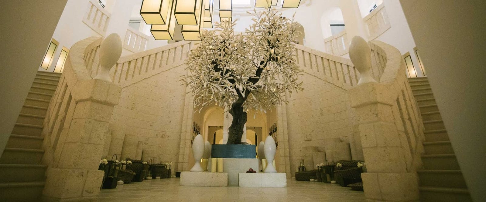 Beautiful Lobby at Borgo Egnazia, Pulgia, Italy