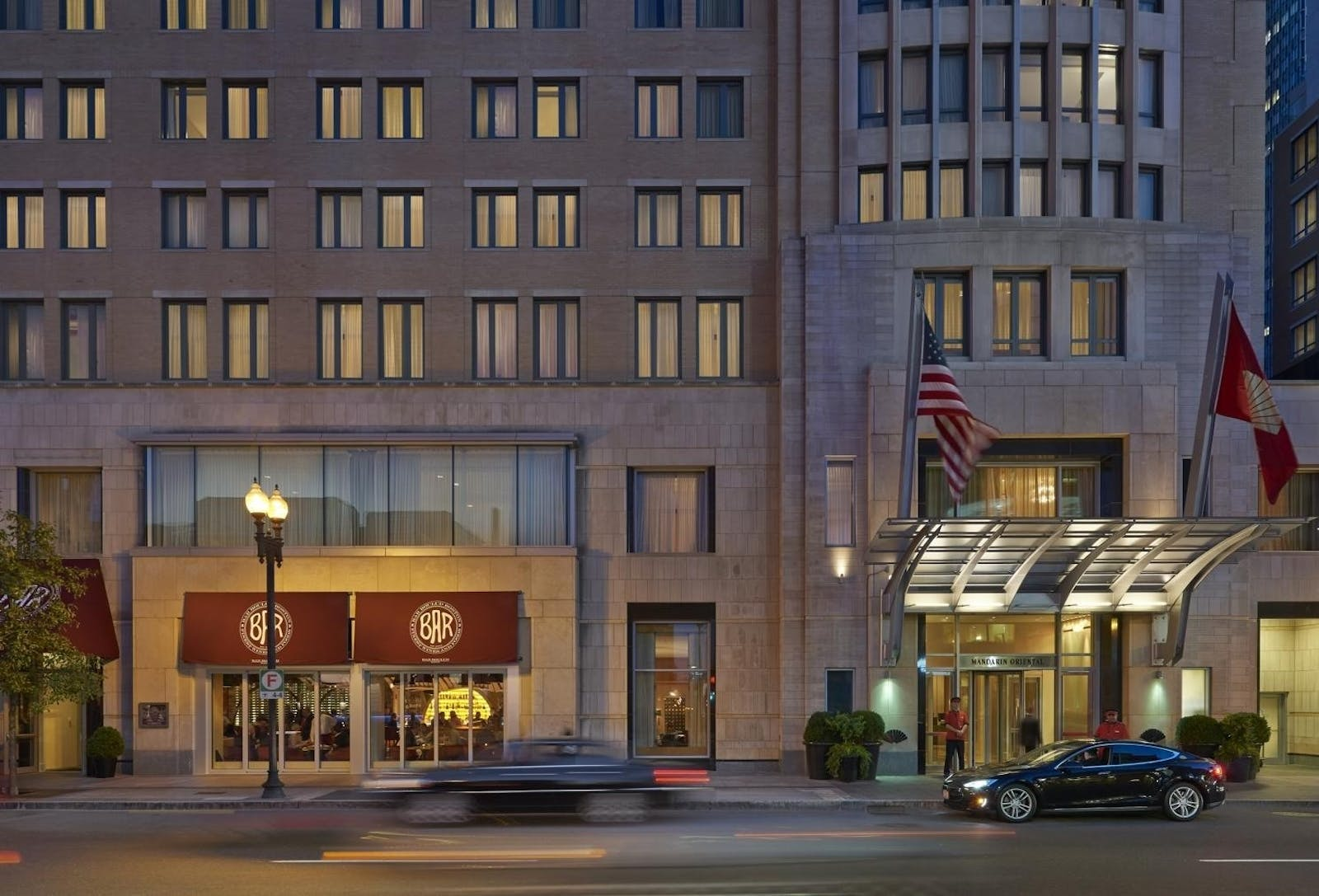 Exterior of Mandarin Oriental Boston
