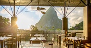 Exclusive cacao cuisine and beautiful views in the restaurant at Boucan by Hotel Chocolat