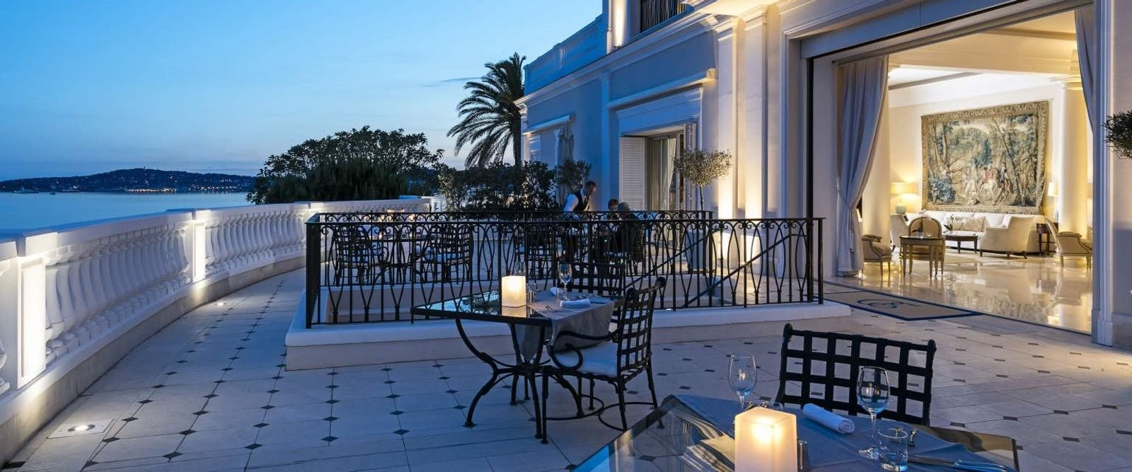 Terrace Dining Area at Cap Estel, French Riviera