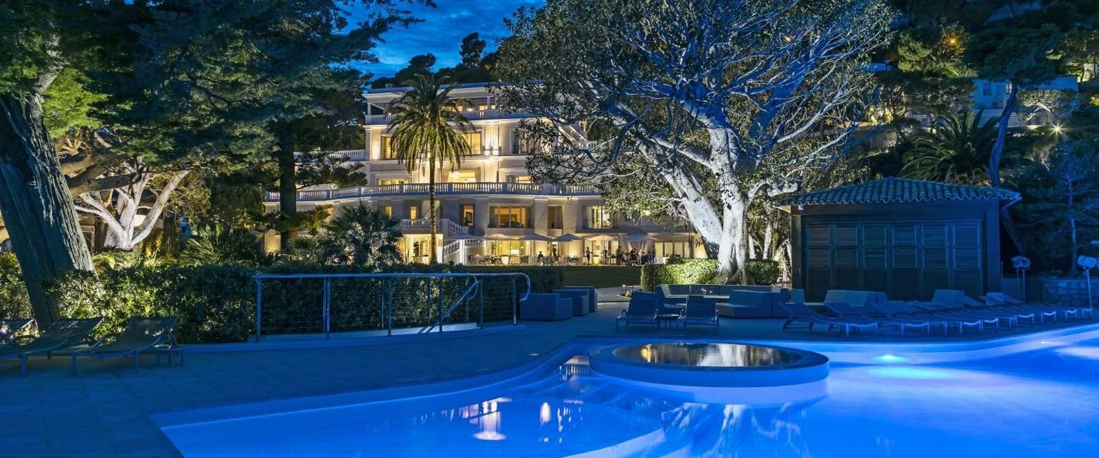 Pool in the Evening at Cap Estel, French Riviera