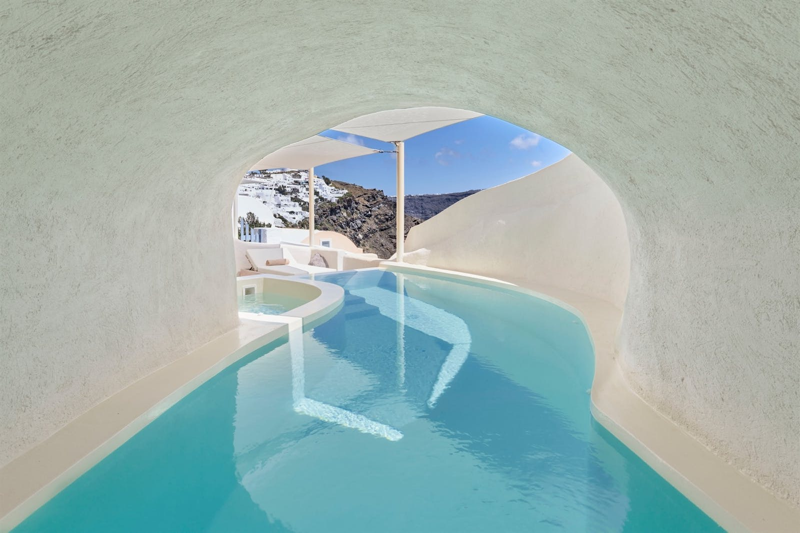 Mystery Villa Cave Pool, Mystique, Santorini, Greece