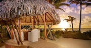 Outdoor dining at The Brando, Tahiti