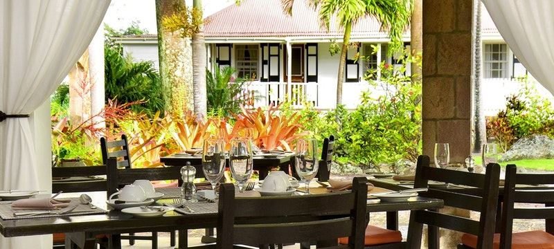 Beautiful breakfast setting at Montpelier Plantation & Beach